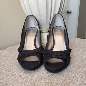 ☆SALE☆Fioni Black Suede Pumps Ladies Size 8